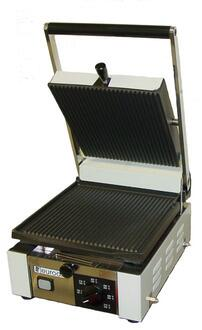 Picture of Elio Small Full Top Panini Grill With Cast Iron Plates Heavy Duty Construction In Stainless Steel