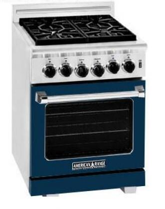 American Range ARR244LDB Heritage Classic Series Gas Freestanding Range with Sealed Burner Cooktop, 3.8 cu. ft. Primary Oven Capacity, in Dark Blue