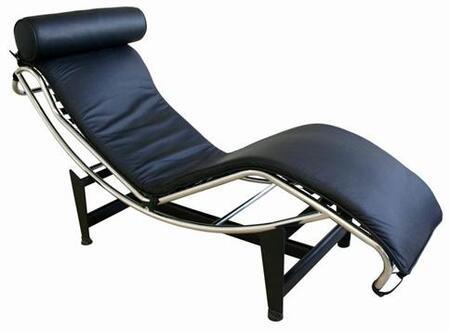 Wholesale Interiors 990ABLACK Le Corbusier Series  Chaise Lounge |Appliances Connection