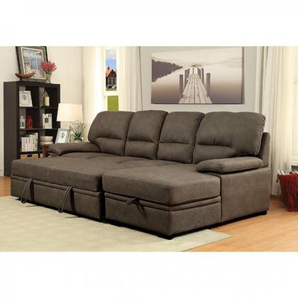 Furniture Of America Cm6908brset Alcester Series Sofa And Chaise Faux Leather Sofa Appliances