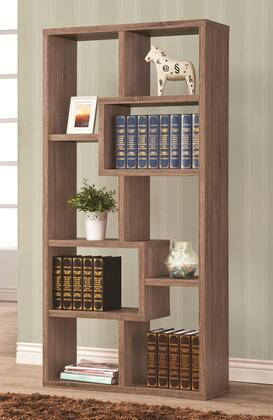 Coaster 80012 Bookcases Multiple Cube Rectangular Bookshelf with Eight Open Back Compartment Shelves and Open Back Two-Way Display in Finish