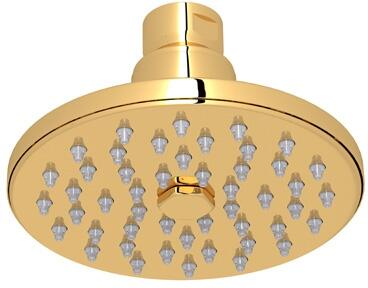 """Rohl 1072/8 4"""" Rodello Single-Function Circular Rain Showerhead with 2 GPM Flow Rate and Spray Pattern in"""