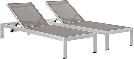 "Modway EEI2472SLVGRYSET 76"" Lounge Chair"