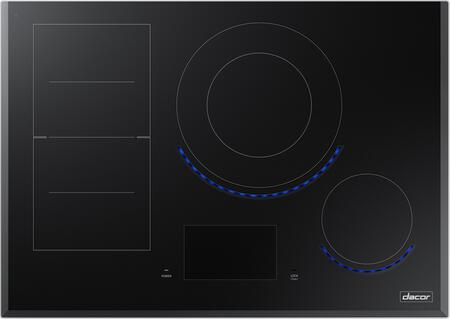 Dacor DTI3xM977BB Modernist Collection Built-In Induction Cooktop with FlexZone Elements, Vitural Flame, Wi-Fi Connect, and Child Safety Lock, in Black