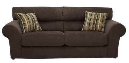 """Jackson Furniture Mesa Collection 4366-03- 97"""" Sofa with Pub Back Design, Rolled Arms and Two Pillows in"""