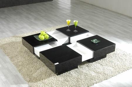 VIG Furniture VGGU516CT Black/White Modern Table