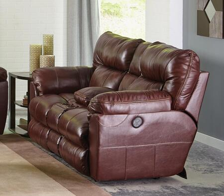 Catnapper 64349128319308319128329 Milan Series Leather Reclining with Metal Frame Loveseat
