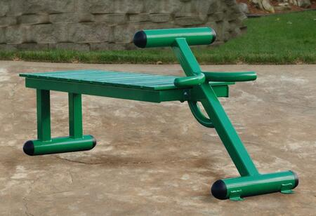 Picture of 65-2300 Outdoor Fitness Bench with Solid Steel Construction  Stainless Hardware and Weather Resistant Paint in