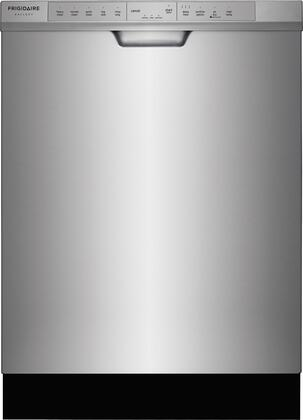 """Frigidaire FGCD2444Sx 24"""" Built-In Dishwasher with 14 Place Settings, 34 Minute Quick Clean, OrbitClean Spray Arm, DishSense Technology and Effortless Dry, in"""