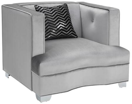 Coaster 505883 Caldwell Series Fabric Armchair with Wood Frame in Silver