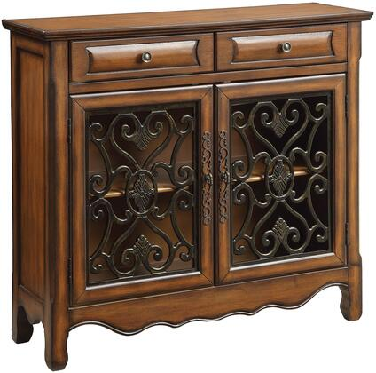 Coaster 950358 Accent Cabinets Series Freestanding Wood 2 Drawers Cabinet