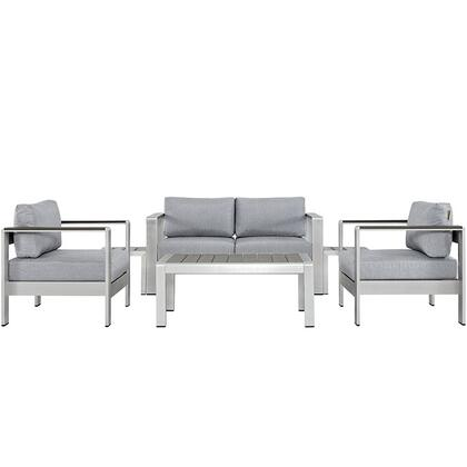 Modway EEI2568SLVGRY Modern Patio Sets