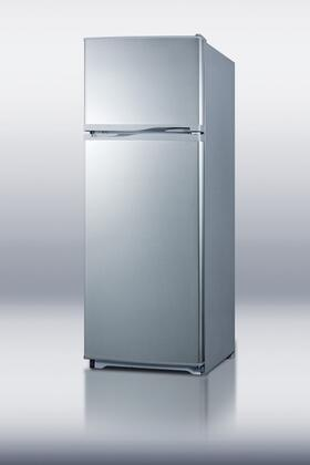 Summit FF1062SLVSSIM Freestanding Top Freezer Refrigerator with 9.41 cu. ft. Total Capacity