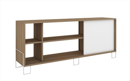 Accentuations 10AMC Accentuations by Manhattan Comfort Eye - catching Nacka TV Stand 2.0 with 4 Shelves and 1 Sliding Door