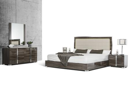 VIG Furniture VGACSANMARINOSETGRYEK San Marino Series 5 Piece Bedroom Set