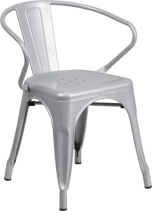 Flash Furniture CH31270SILGG  Metal Frame  Patio Arm Chair