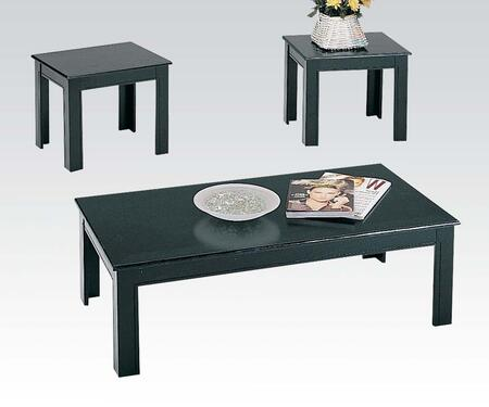 Acme Furniture 02168BK Contemporary Living Room Table Set