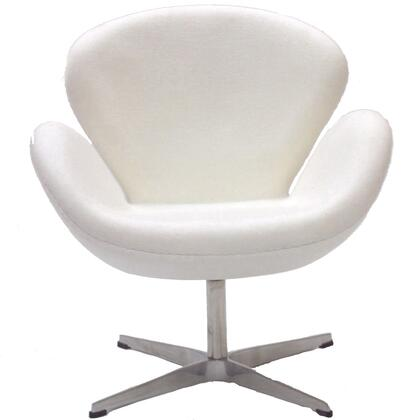 Modway EEI137WHI Wing Series Modern Fabric Metal Frame Accent Chair