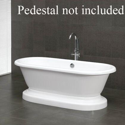 "Cambridge ADEPXX Acrylic Double Ended Pedestal Bathtub 70"" x 30"""