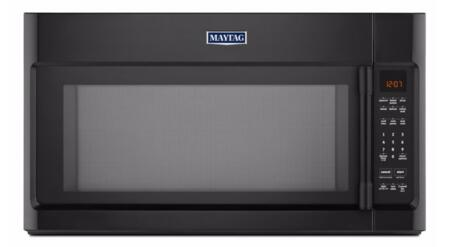 """Maytag MMV4205FW 30"""" Over The Range Microwave with 2.0 cu. ft. Capacity, Sensor Cooking, Interior Cooking Desk, Multiple Speed Exhaust Fan, Mesh Grease Filter, Charcoal Odor Filter and Stainless Steel Cavity, in"""