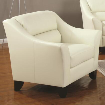 Coaster 504133 Brooklyn Series Bonded Leather with Wood Frame in Ivory
