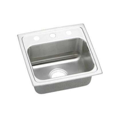 "Elkay LRAD1716550 17"" Top Mount Self-Rim Single Bowl ADA Compliant 18-Gauge Stainless Steel Sink"