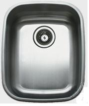 "Ukinox D376 16"" Wide Single Bowl Undermount Kitchen Sink 18-Gauge Stainless Steel"