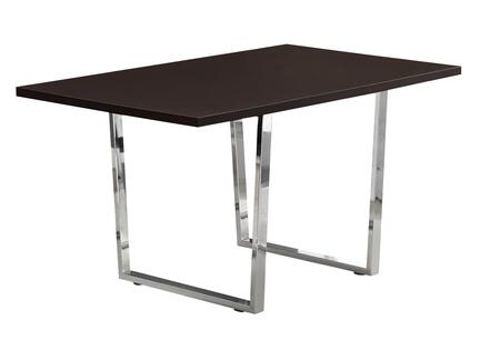 "Monarch I113660T 60"" Dining Table with Angular U-Shaped Chrome Legs in"