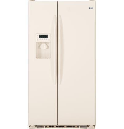 GE PSCF3RGXCC Profile Series Side by Side Refrigerator with 23.3 cu. ft. Capacity in Bisque