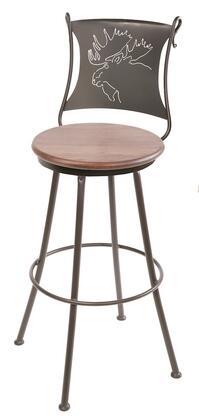 Stone County Ironworks 904001FAUXESA Bull Moose Series  Bar Stool