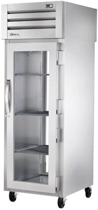 True STG1RPT-1G Spec Series Pass-Thru Refrigerator with 31 Cu. Ft. Capacity, LED Lighting and Glass Front and Rear Swing-Doors