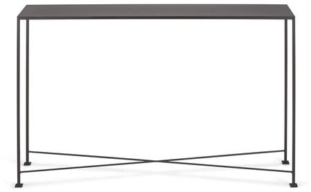 """Tag Diversey Collection 40"""" Console Table with X-Shaped Cross Brace, Stacked Foot Design and Solid Steel Bar Powder Coated in Coco Brown Color"""