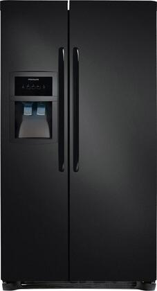 """Frigidaire FFHS2622MB 36""""  Side by Side Refrigerator with 25.54 cu. ft. Capacity in Black"""