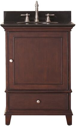 "Avanity Windsor Collection WINDSOR-VS24-WA-X 24"" Sink Vanity with X Top, Undermount Sink, Soft-Close Door and Soft-Close Drawer in Walnut Finish"