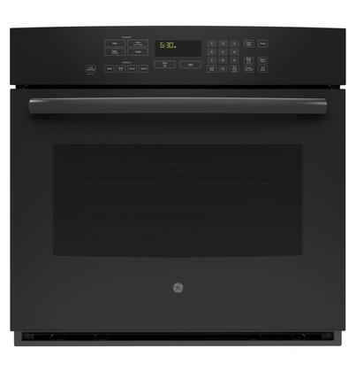 "GE Profile PT7050 30"" SC Convection Single Oven, with 5.0 Cu. Ft. Oven Capacity, Designer Style Handle, and Self Clean with Steam Clean Option"