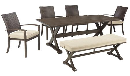 Signature Design by Ashley P457T4CB Moresdale Patio Sets
