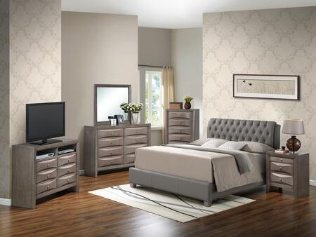 Glory Furniture G1505CQBUPCHDMNTV2 G1505 Queen Bedroom Sets