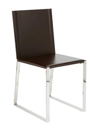 Euro Style 04962BRN Cora Series Leather Dining Room Chair