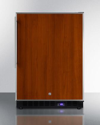 """Summit SPFF51OS 24"""" Commercially Approved Compact Upright Freezer with 4.72 cu. ft. Capacity, Weatherproof Design, Recessed LED Light, Digital Thermostat and Frost-Free, with"""