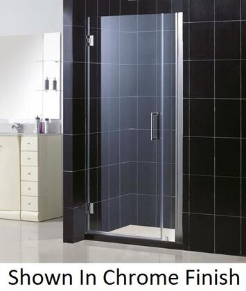 DreamLine SHDR-20357210 Unidoor Frameless Hinged Shower Door With Self-Closing Solid Brass Wall Mounted Hinges (5 Degree Offset), Reversible For Right or Left Door Opening &