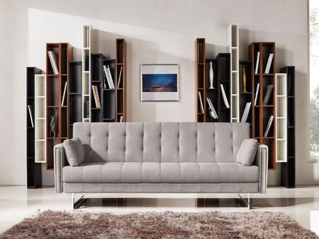 "VIG Furniture Divani Casa Tejon Collection VGMB-1600 86"" Sofa Bed with Stainless Steel Legs, Track Arms, Solid Wood Frame and Fabric Upholstery in"