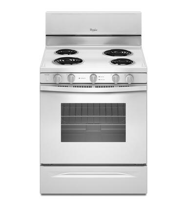 "Whirlpool WFC340S0AW 30""  Electric Freestanding Range with Coil Element Cooktop, 4.8 cu. ft. Primary Oven Capacity, Storage in White"
