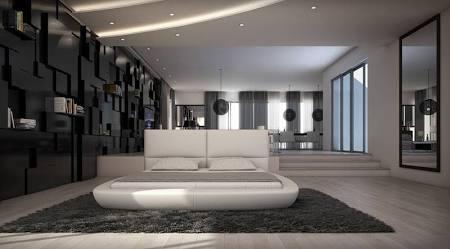 VIG Furniture VGILRAVELLO-WHT Modrest Ravello Modern White Eco-Leather Bed