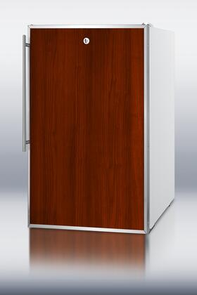 """AccuCold FF511LFR 20"""" Freestanding Compact Refrigerator with 4.1 cu.ft. Capacity, 3 Wire Shelves"""