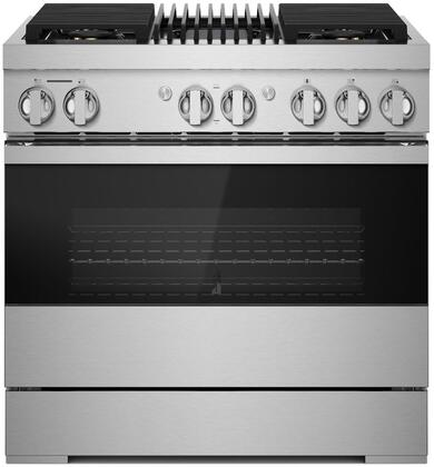 Jenn-Air NOIR JDRP636HM 36-INCH DUAL-FUEL PROFESSIONAL RANGE WITH GAS GRILL