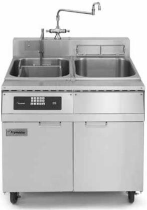 """Frymaster 8SMS- 36"""" Pasta Magic Series Commercial Gas Pasta Cooker with 8 kw Electrical Input, 8.75 Gallon Capacity, Programmable Timer Controller, Rinse Tank, Swing Faucet and Basket Lifts, in Stainless Steel"""