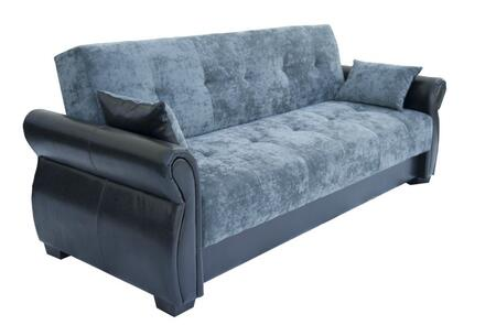 Lifestyle Solutions SANMDBKSET  Convertible Fabric Sofa
