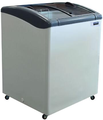 Ojeda NBx Ice Cream Freezer with Steel Construction, Adjustable Thermostat, High Impact ABS Frame and Heavy Duty Casters, in White