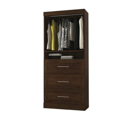 "Bestar Furniture 26872 Pur by Bestar 36"" storage unit with 3-drawer set"