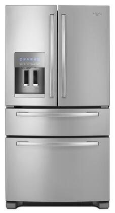 Whirlpool GZ25FSRXYY  French Door Refrigerator with 25 cu. ft. Total Capacity 6 Glass Shelves